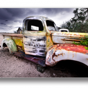 Tablou rustic truck, Printly