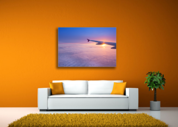 Tablou airplane in the sunset, Printly