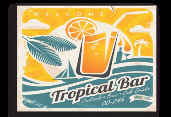 Tablou tropical bar, Printly
