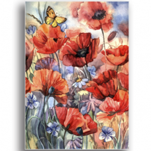 Tablou watercolor poppies, Printly