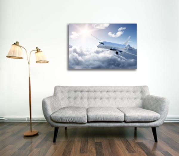 Tablou white airplane, Printly