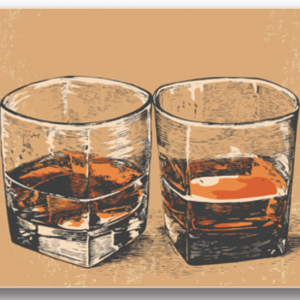 Tablou wiskey glasses, Printly
