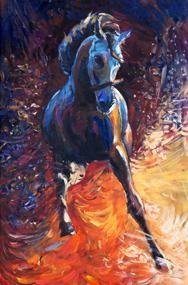Tablou blue horse